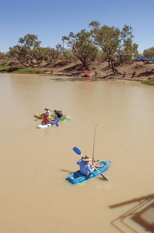 Kayak fishing on the Thomson