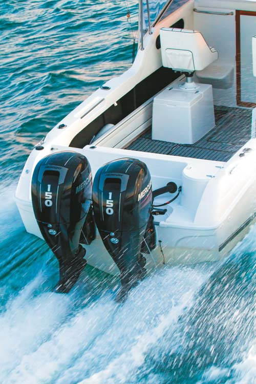 Caribbean 2300 twin outboards