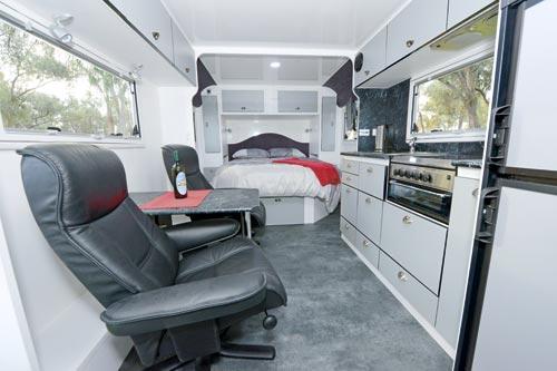Aerovan caravan layout interior