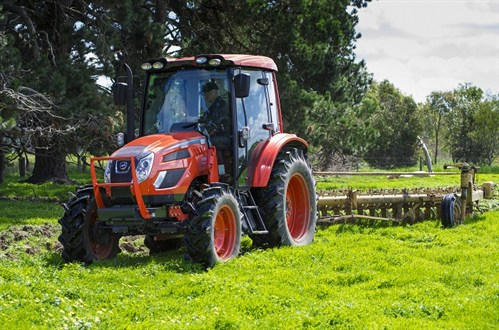 Kioti PX1002 Cabin Tractor With Plough
