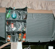 Shoe Organiser In Camper Trailer