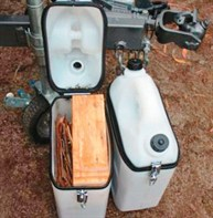 Fire wood storage in jerry can
