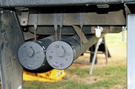 Pole storage on camper