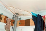 Drying clothes inside a camper