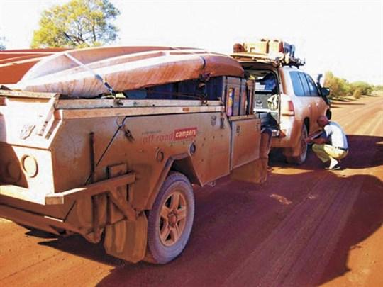 dirty camper trailer