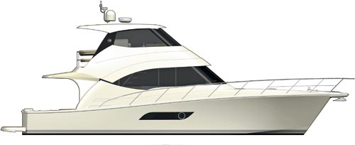 RIVIERA 50 ENCLOSED FLYBRIDGE SIDE LAYOUT