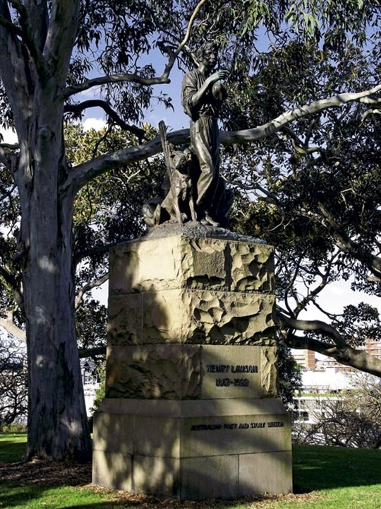 Henry Lawson Statute In The Domain , Sydney