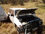 Jacknife car caravan wreck