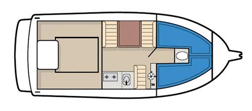 CARIBBEAN 24 FLYBRIDGE SPORTS FISHER LAYOUT