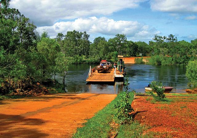 Truck Crossing The Jardine River In Queensland