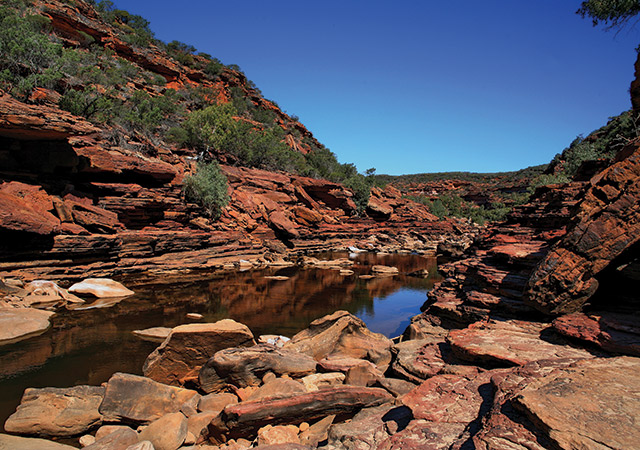 Rock Formations Of The Murchison River WA