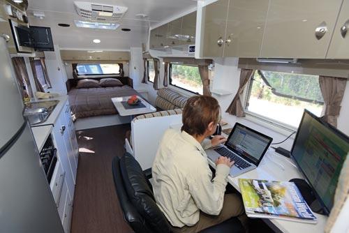 Nova Vita Workabout caravan interior