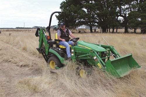 John Deere 1025R Mowing