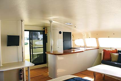 Oram 60ft catamaran interior