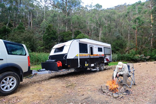 Majestic Trailblazer Towing At Campsite