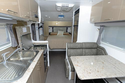 Majestic Trailblazer Caravan Kitchen