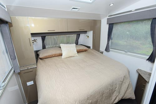 Majestic Trailblazer Caravan Bedroom