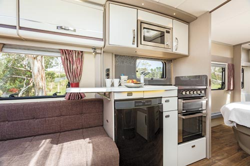 Swift Eccles Caravan Kitchen