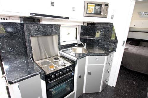 Traveller Prodigy Caravan Kitchen