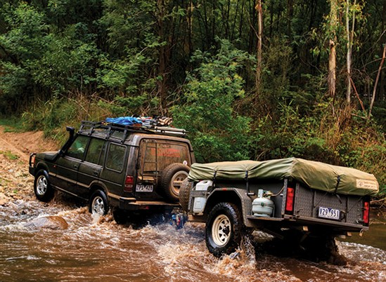 Camper Trailer And Off Road Vehicle