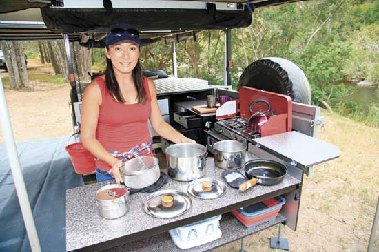 Drifta Offroad Tourer Camper Trailer Kitchen