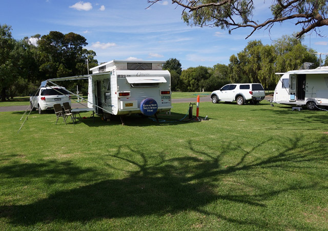 Caravans In A Caravan Park
