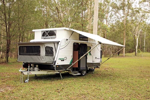 Windsor Rapid Caravan Awning Open