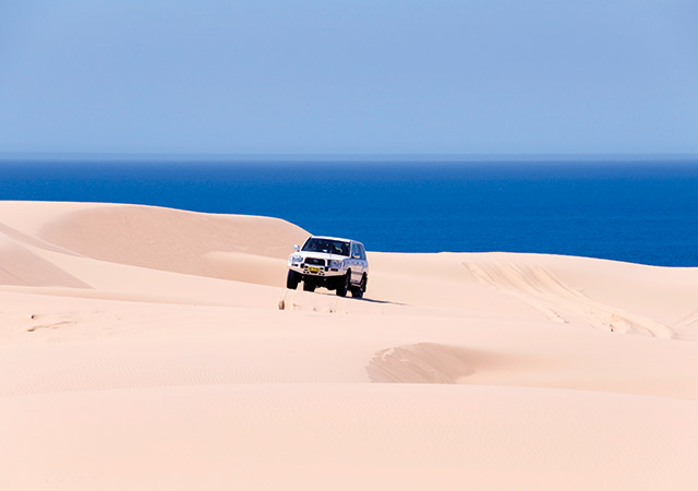 4wd Driving On The Beach