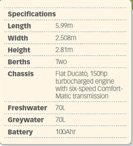 Auto -Trail -V-line -specifications