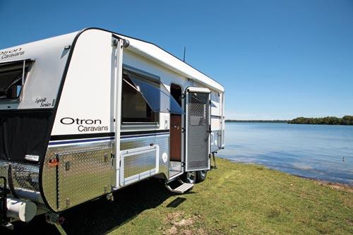 An Otron Signature Spirit 2 Caravan By A Lake