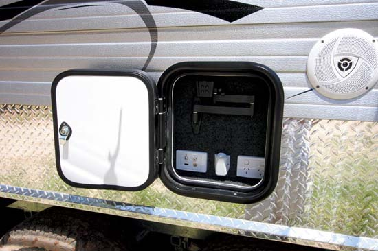 Caravan Electrical Hatch