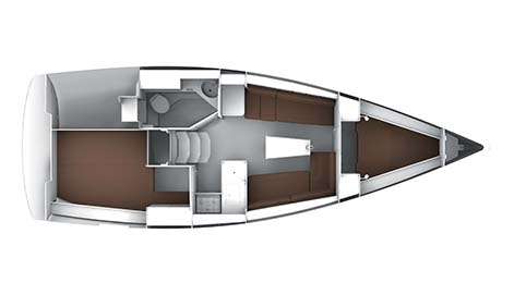 BAVARIA CRUISER 33 LOWER DECK LAYOUT