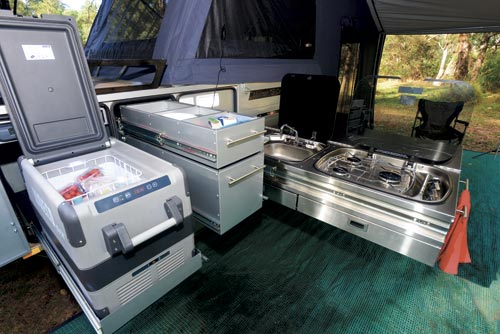Mountain Trail EDX Camper Trailer Kitchen