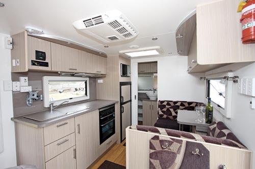 Olympic Pursuit Caravan Kitchen