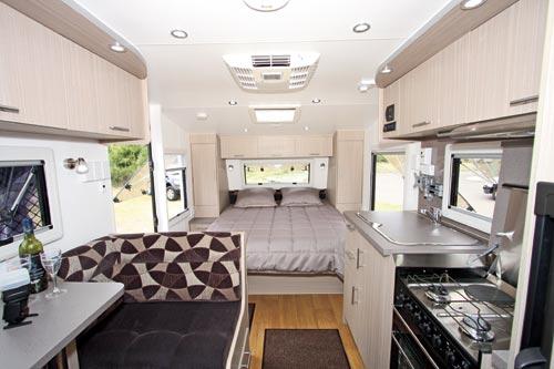 Olympic Pursuit Caravan Bedroom