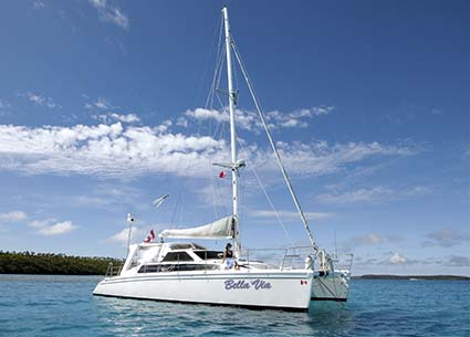 SEAWIND 1200 CATAMARAN AT ANCHOR