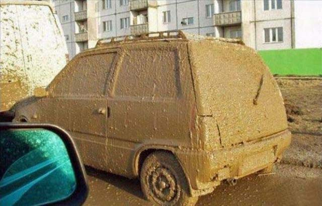 Car Covered In Mud
