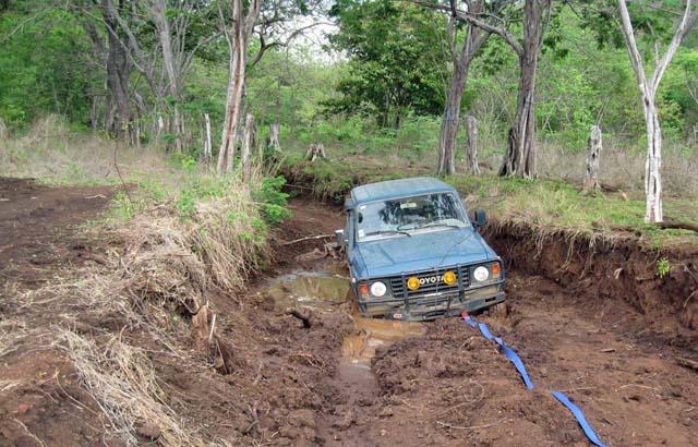 Car On Muddy Road