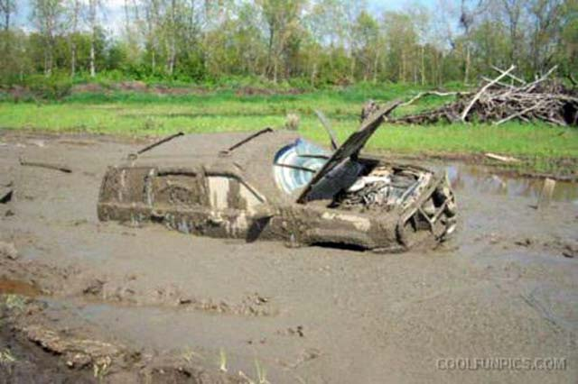 Car In The Mud