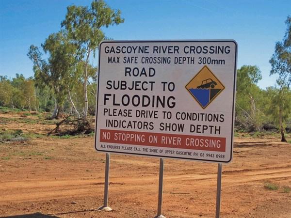Gascoyne River Crossing Sign