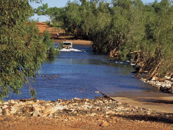 4x 4 Crossing The De Grey River In The Pilbara