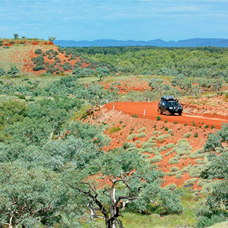 Car Driving The Pilbara