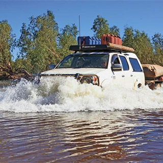 Car In Pilbara River