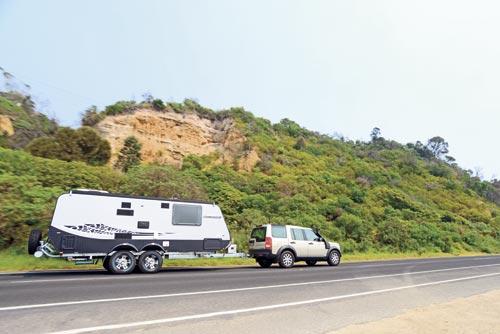 Golf Savannah caravan and tow vehicle