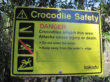 Crocodile Safety Sign