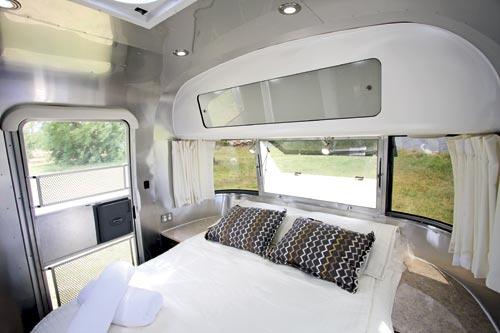 Airstream Caravan Bedroom