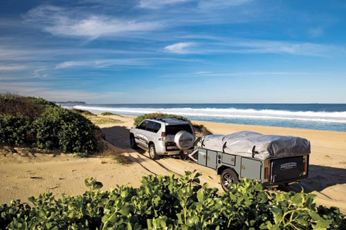 All Terrain Seeker Camper Trailer Beach