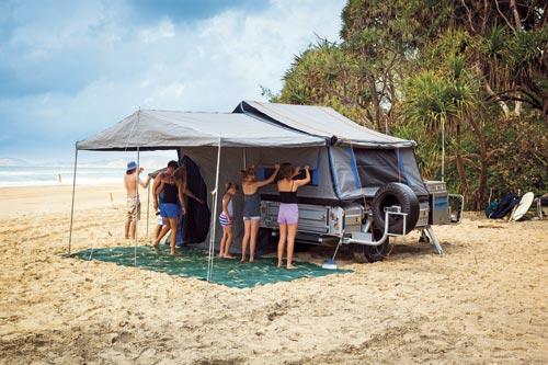 Camper Trailer Family