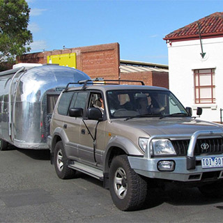 Airstream Caravan And Tow Vehicle