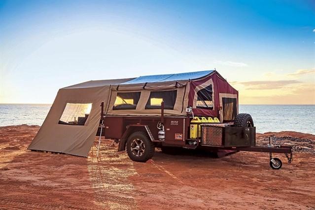 Camper Trailer In The Desert